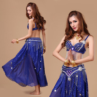 Belly Dancing Clothes Bra&Belt&Skirt Women Bellydance Lady Bollywood Dance Costumes Indian Dresses Danza Tribal Belly dance