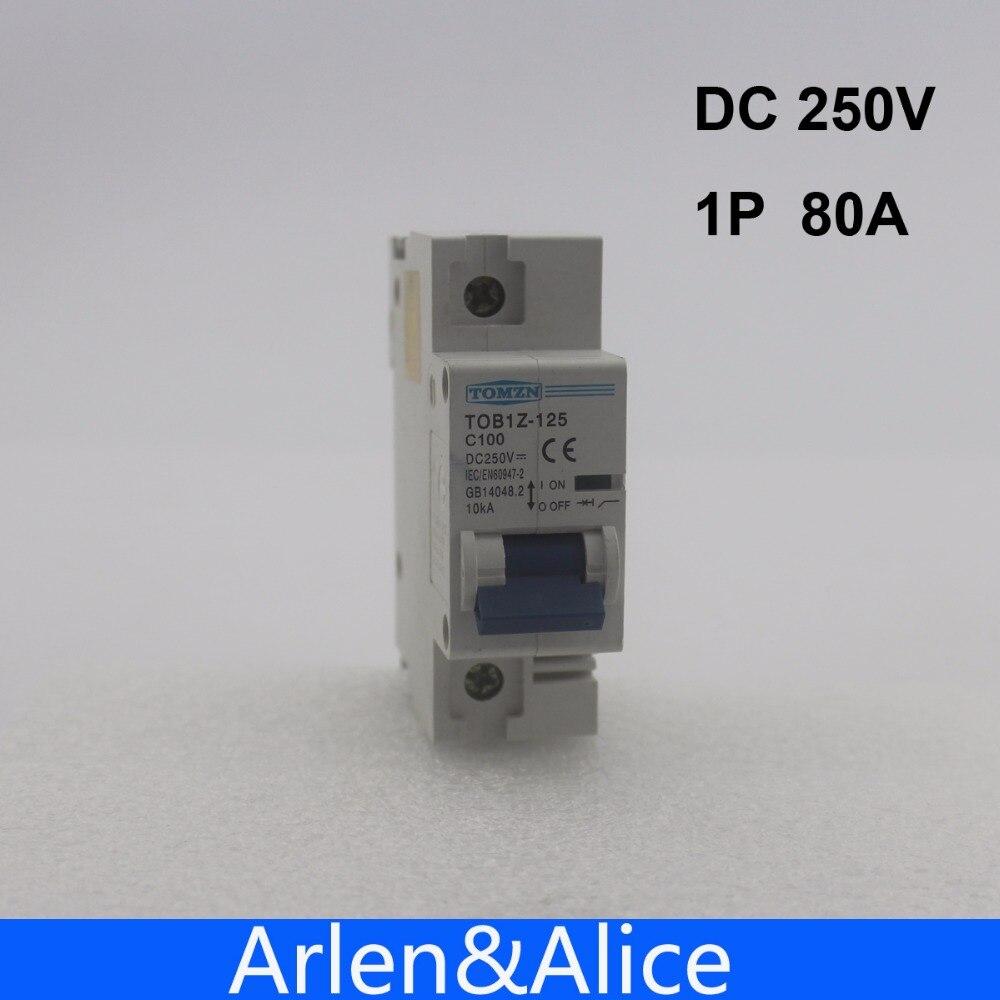 1P 80A DC 250V  Circuit breaker FOR PV System C curve MCB1P 80A DC 250V  Circuit breaker FOR PV System C curve MCB