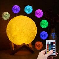 Mond licht FERNBEDIENUNG dekorative Usb urlaub Lampe Kreative traum tisch lampe bunt Touch 16 Farbe Geändert Decor Schlafzimmer