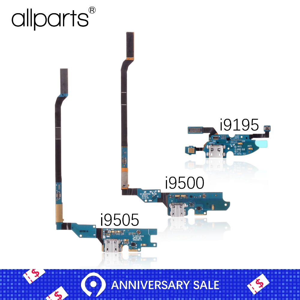 Micro USB Charger Flex Cable For SAMSUNG Galaxy S4 Mini I9190 I9195 USB Charging Port With Mic For Samsung S4 I9500 I9505