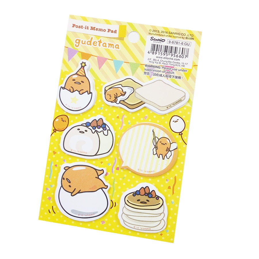 1 Pack/lot Cartoon Mini Memo Pad Gudetama Lazy Egg Kitty Cat Diary Sticker Lovely Notes Bookmark  School Office Supplies