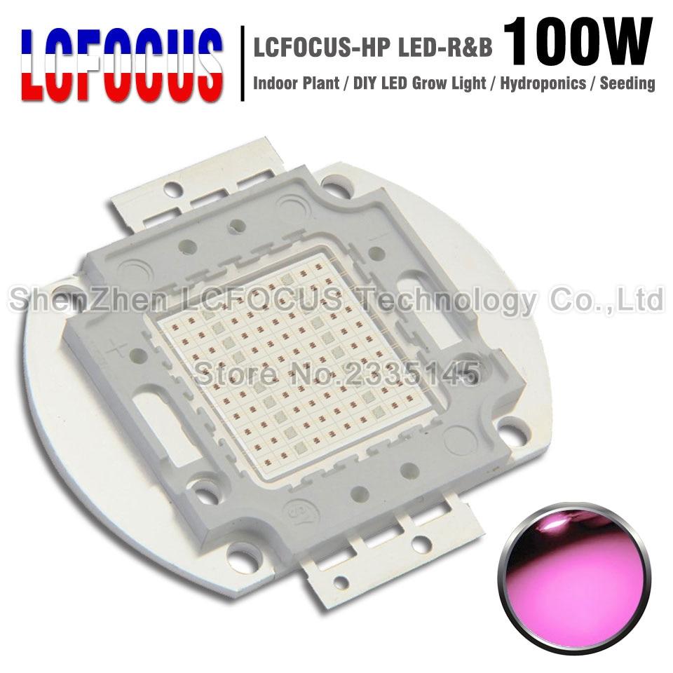 Haute puissance puce LED 100 W rouge profond 660nm + bleu Royal 440nm bricolage 100 W 200 W 300 W 500 W pousser la lumière pour plante d'intérieur fleur légume