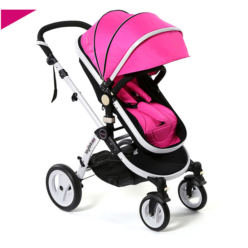 0 Anti-UV Sunshade Baby Cart, High-view Bidirectional and Foldable Stroller With Shock Absorption, Can Sit or Lie Pushchair fashion baby stroller high view portable bidirectional foldable aluminum alloy shock absorption baby pram pushchair buggys