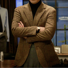 Mens Tweed Jacket Custom Made Brown Tweed Coat,Bespoke