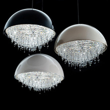 Schaufenster Moderne Hngende Kristalllampe Fr Esszimmer Einfache Atmosphre Runde Wohnzimmer Lampe Led Kche Pendelleuch