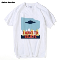 Jenni S Prints X Files T Shirt Men I Want To Believe T Shirt 2017 Summer