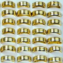 100 шт винтажные золотые кольца из нержавеющей стали в стиле