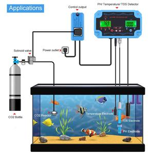 Image 3 - yieryi 3 in 1 pH/TDS/TEMP Water Quality Detector pH Controller with Electrode BNC Type Probe Water Quality Tester for Aquarium