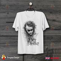 Joker Sketch Gotham Why So Serious Retro CooL Vintage Comic Unisex T Shirt B75 hip hop funny tee mens tee shirts 2019 hot tees