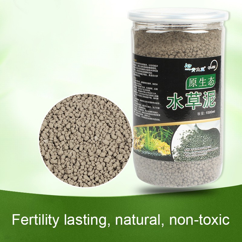 1000ML Aquarium Substrate Aquarium Water Grass Planting Soil Fish Shrimp Tank Growing Planting Supplies No Washing