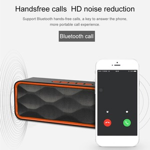Image 2 - Mini altavoz portátil Bluetooth columna bajo Subwoofer soporte FM Radio AUX USB TF tarjeta HIFI altavoz portátil para computadora iPhone