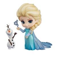 Nendoroid 10 cm Elsa & Anna Nette Version Schnee Königin Olaf Action-figuren Nizza Sammlungen Mit Box Für Mädchen Geschenke # E