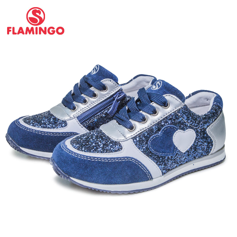 FLAMINGO 2018 New Arrival Spring&Autumn Breathable Zip&Lace-Up Casual Orthopedic Outdoor shoe for girl Free Shipping 81P-XY-0666