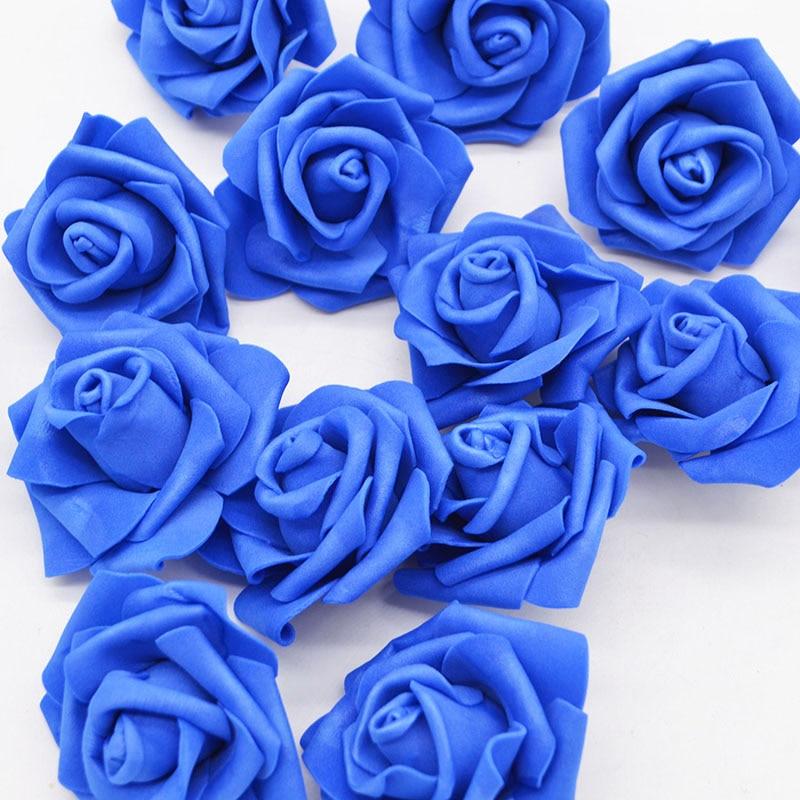 20Pcs/lot Artificial Real Touch PE Foam Rose Flower Wedding Party Accessories Home Decor Handmade Flower Head Wreath Supplies 75
