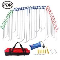 PDR Инструменты толкателей Крючки автомобиля лом Дент удаления Paintless Дент Ремонт Инструменты PDR комплект ferramentas Сумки для инструментов насос