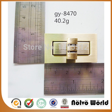 45*25mm zinc alloy brushed antique brass regular lock fashion hardware DIY handmade bag accessory standard locks