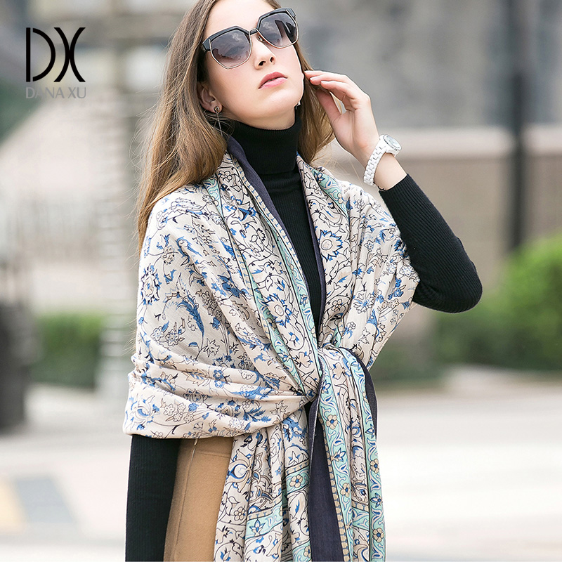 Image 2 - 2019 Fashion Warm Winter Scarf For Women Scarf Luxury Brand Cashmere Large Scarf WrapWomen Blanket Pashmina Shawl Muslim Hijab-in Women's Scarves from Apparel Accessories