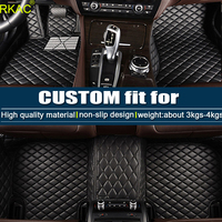 Leather Car floor mats for Volkswagen Golf e Golf R GTI GLI 5th 6th 7th Hatchback 5D waterproof custom fit car liners foot mats
