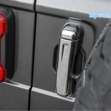 Lapetus Side Door & Rear Tail Trunk Pull Handle Decoration Frame Cover Trim For Jeep Wrangler JL 4 Model 2018 - 2020