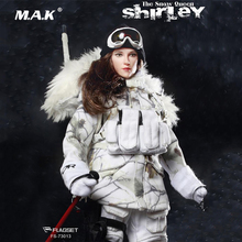 For Collection Full Set FS-73013 1/6 The Snow Queen Shirley Girl Sniper doll Female Action Figure Collectible Doll toy gift