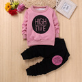 Children Sweater Girls Clothing Sets Thick Warm Sport Suit Kids Spring Winter Long T Shirt+Pants Hot Sale Girls Clothes Set