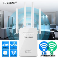 300Mbps Wifi Repeater Signal Amplifier Wireless 4G Router Dual Band Wifi Range Extender Booster Network Wi Fi Modem 2.4 5 GHz