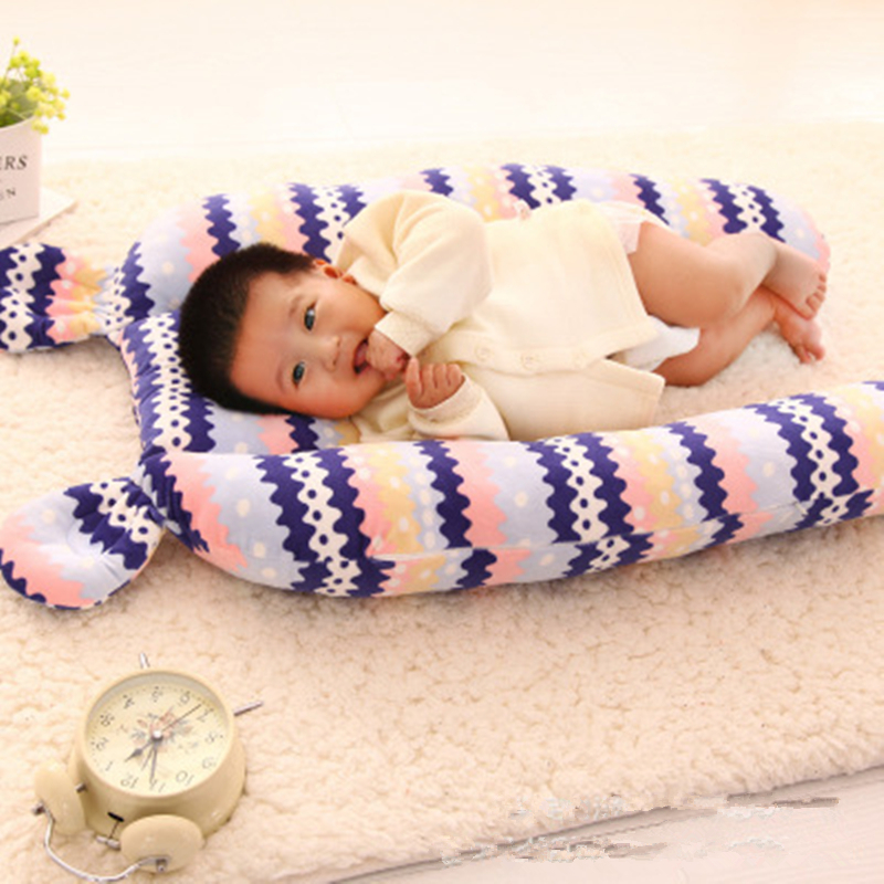 Baby Sleeping Bed Bolster Safety Bumper Fence Baby Sleep Artifact Removable Washable Plush Anti-head Pillow