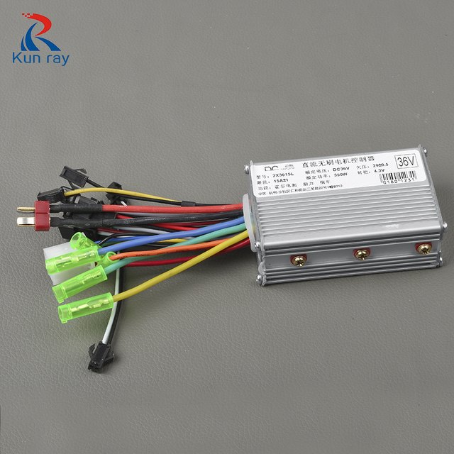 24V/36V/48V 250W 350W 15A Brushless Controller for Electric Bike Cruise 3 Speed Function Ebike Parts Control Speed Controller