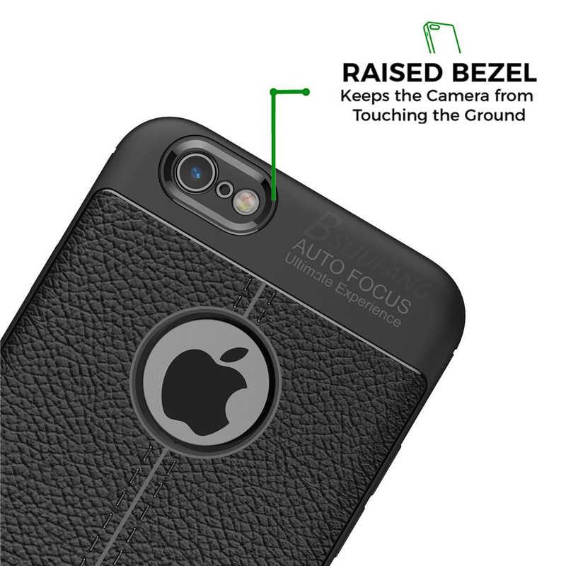 Bsliufang luxo à prova de choque matte capa para iphone 6 7 8 plus 6s tpu couro macio caso para o telefone iphone x xr xs max capa