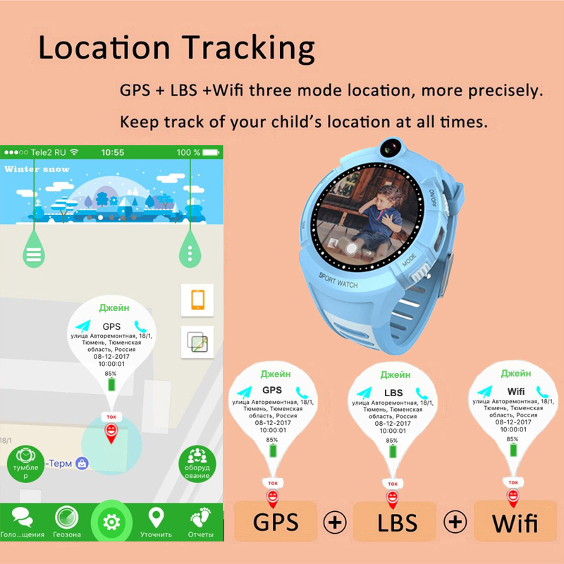 Image 4 - Q360 Kids Smart Watch with Camera GPS WIFI Location Child 