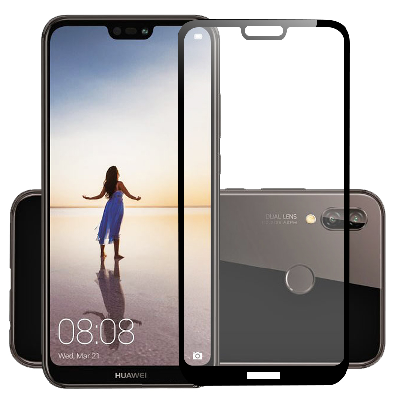 3D Tempered Glass For Huawei P20 Lite Full Cowl 9H Protecting Movie Explosion-Proof Display screen Protector For Huawei P20 Lite P20Lite