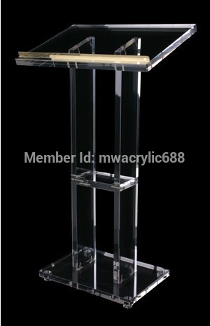 Free Shipping Popularity Beautiful Firm Modern Design Cheap Clear Acrylic Lectern