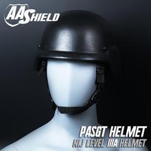 AA SHIELD Bulletproof Tactical USGI Pasgt Ballistic Safety Helmet Body Armor Aramid Core Lvl IIIA 3A Black
