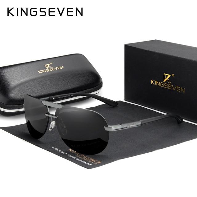 KINGSEVEN מותג עיצוב חדש מקוטב משקפי שמש ללא מסגרת גברים נשים נהיגה טייס מסגרת שמש משקפיים זכר Goggle UV400 Gafas דה סול