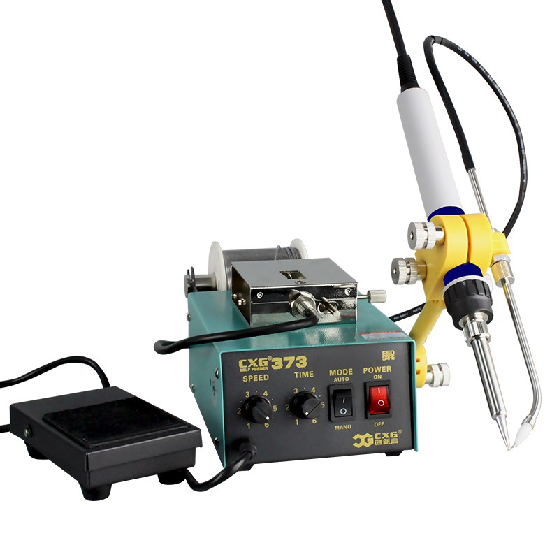 CXG373 automatic tin supply system welding machine withpedal switch leading tube max diameter 1.4mm CXG373 automatic tin supply system welding machine withpedal switch leading tube max diameter 1.4mm