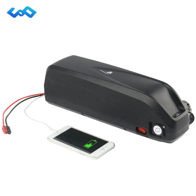 US EU No Tax E-Bike Hailong Battery 48V 13Ah Electric Bike Downtube Li-ion Battery for 1000W Bafang Conversion Kit+Charger все цены