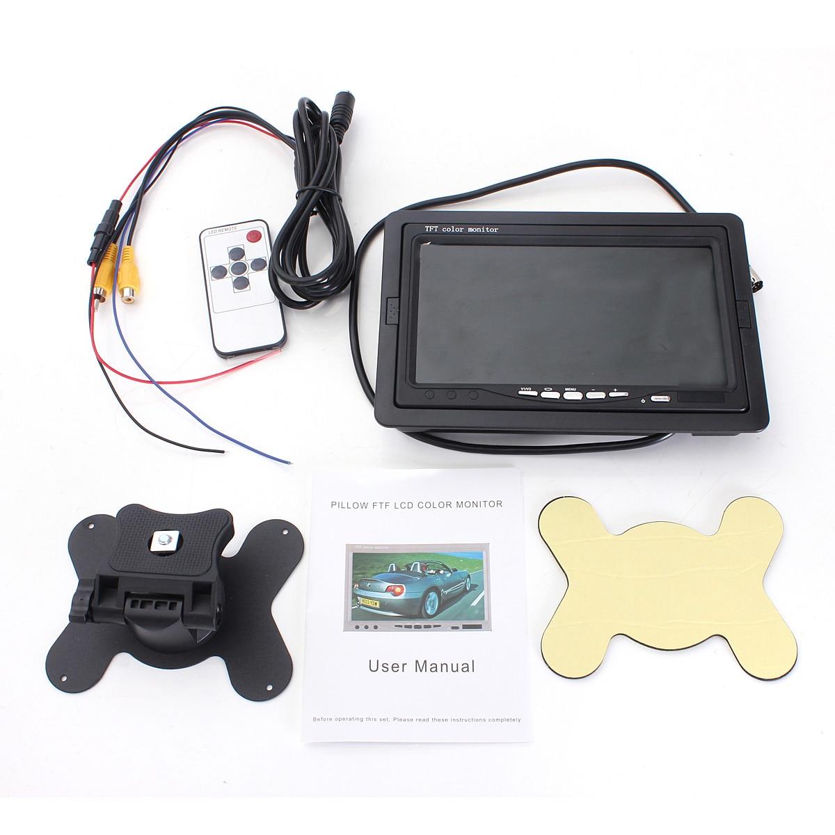 Tft Color Monitor Wiring Diagram Instructions Lcd 7 Inch Screen Car For Cctv Reversing Rearview Backup Camera 12v Van