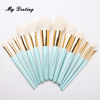 MY DESTINY 12pcs Professional Goat Hair Makeup Brushes Set Make Up Brush Pincel Maquiagem Pinceis Brochas