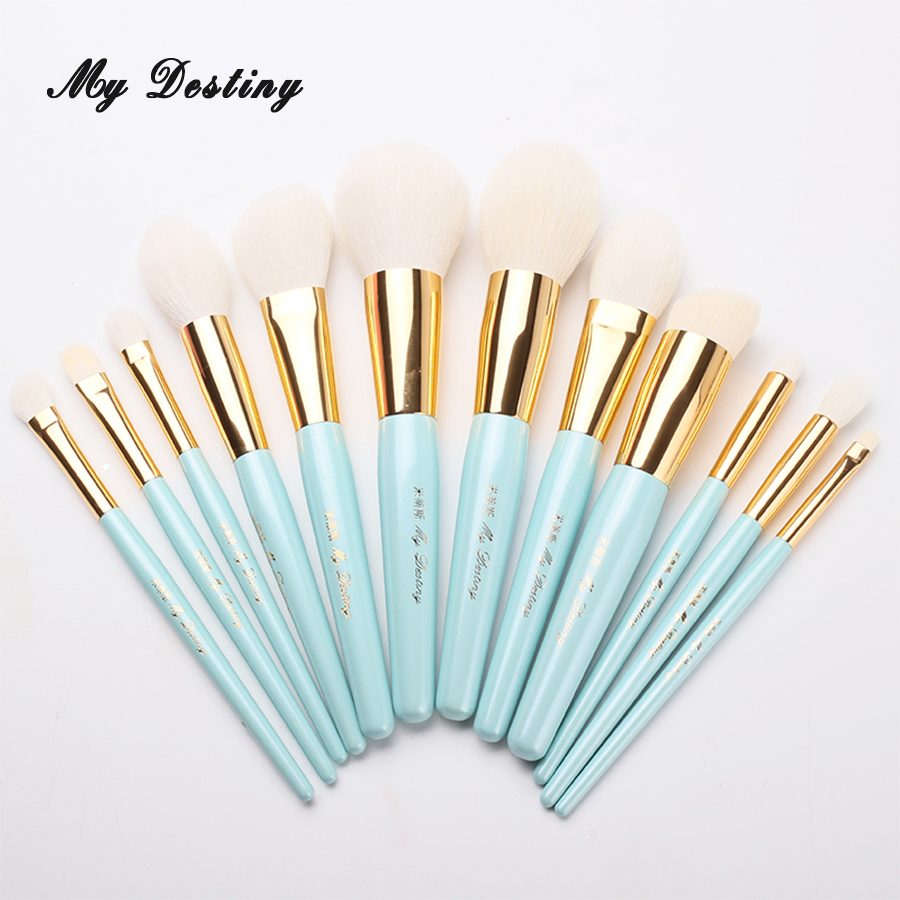 MY DESTINY 12pcs Professional Goat Hair Makeup Brushes Set Make Up Brush Pincel Maquiagem Pinceis Brochas Pinceaux Maquillage energy brand weasel concealer brush makeup brushes make up brush pinceaux maquillage brochas maquillaje pincel maquiagem m101