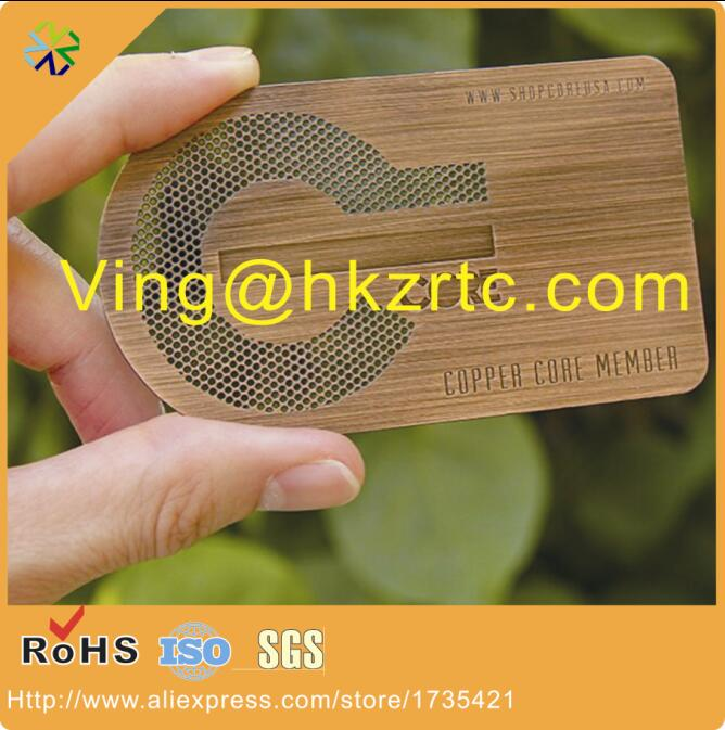 Us 299 66 Hole Punched Brushed Red Bronze Metal Business Cards In Business Cards From Office School Supplies On Aliexpress