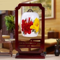 New Decorative Table Ighting Chinese Ceramics Desk Light Bedroom Table Lamp Bedside Study LED Living Room