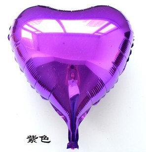 [Fly Eagle] NOVINKA doprava zdarma 10ks / lot 18 palců Balón z hliníkové fólie, balónek na party purpurové srdce balón Dětský dárek