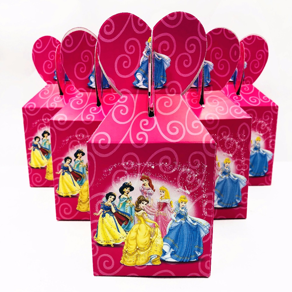 6pcs/set Mickey Minnie Trolls Princess Minions Party Supplie Kid ...