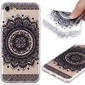 Caso para iphone 7 cubierta a prueba de golpes de goma suave marco claro de nuevo caso para iphone 7 plus negro patrón de flores