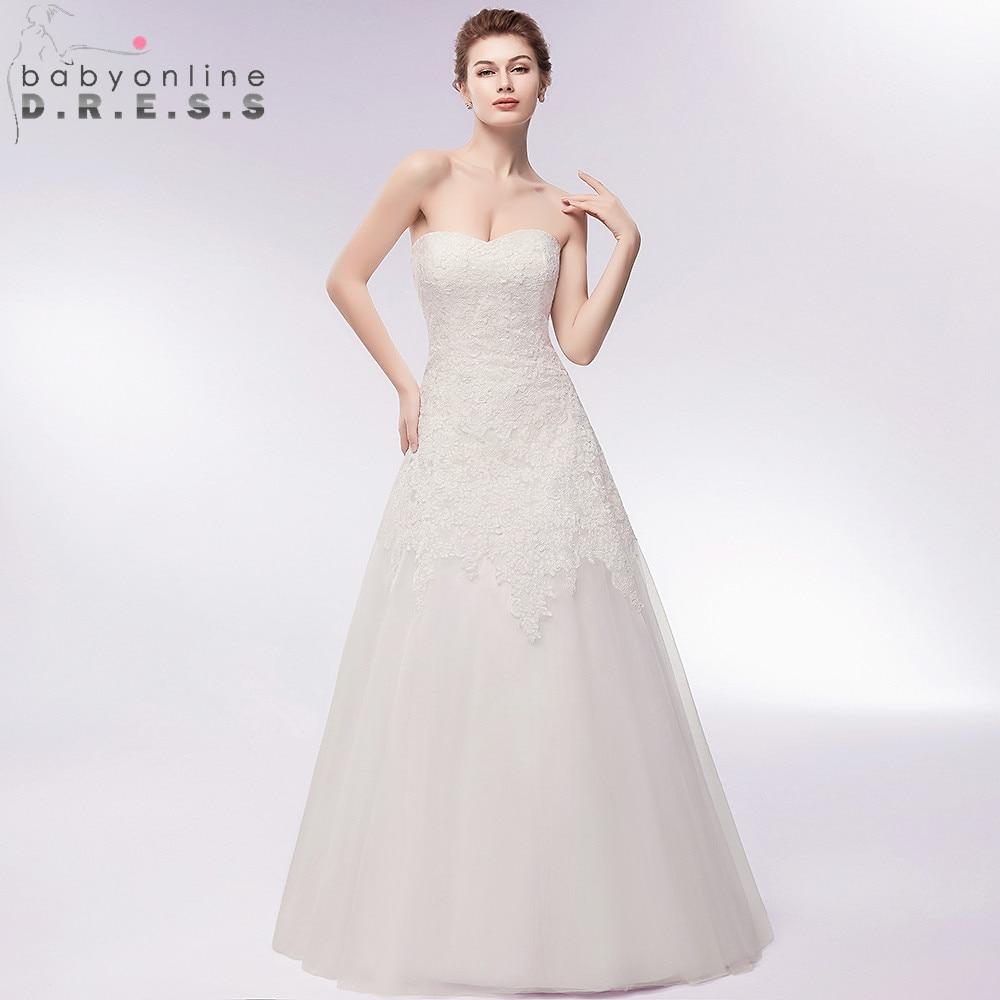 Gorgeous Sweetheart Neck Boho Wedding Dress  Sexy Backless A Line Zipper Back Bride Dress Vestido de Noiva Casamento-in Wedding Dresses from Weddings & Events    1
