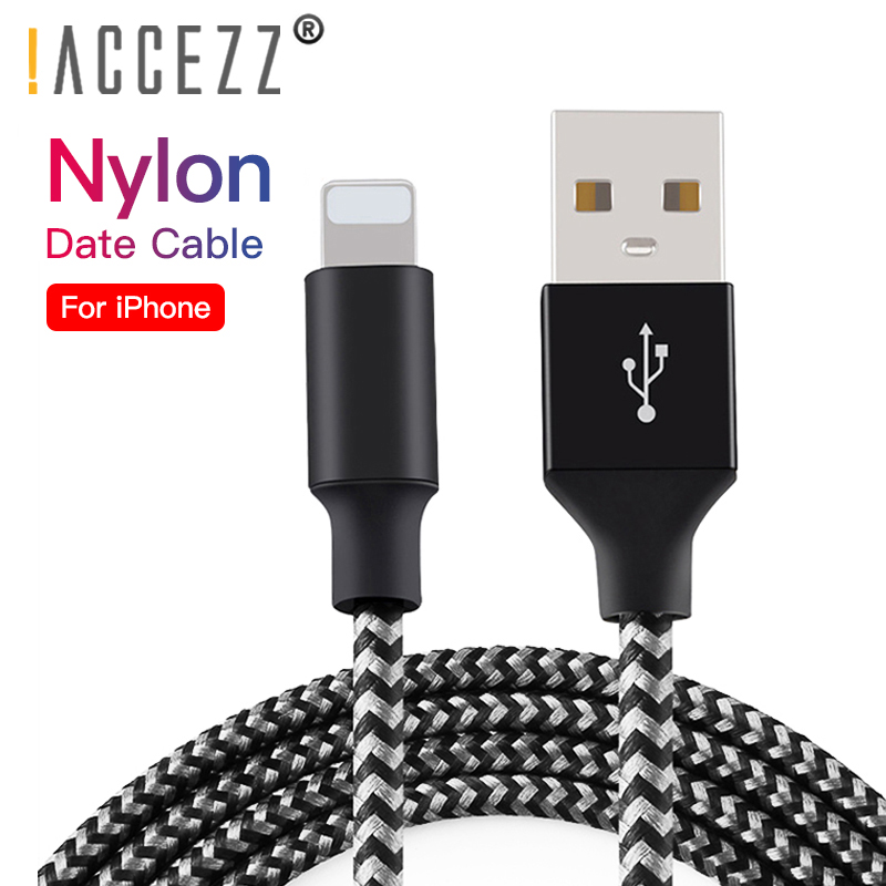 !ACCEZZ Usb Charging <font><b>Cable</b></font> For <font><b>iPhone</b></font> X XR XS 8 7 6s <font><b>6</b></font> Plus Lighting Charger Cord For <font><b>Iphone</b></font> IOS 9 10 11 Charge Data <font><b>Cables</b></font> 1/<font><b>3M</b></font> image