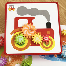 Toys for children Gear Mushroom Nail Toys 3D Jigsaw Puzzle Toy Educational Kids Games Develop Imagination puzzles for childrren