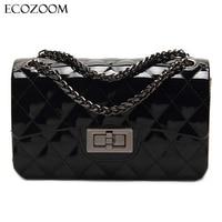 Summer Silica Gel Female Mini Chain Jelly Bag Women Diamond Lattice Small Flap Bag Girls Casual