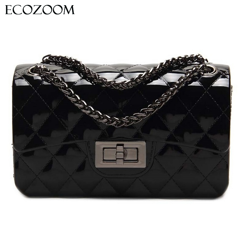Summer Silica Gel Female Mini Chain Jelly Bag Women Diamond Lattice Small Flap Bag Girl Casual Clutch Silicone Bag Shoulder Bags fashion sheepskin mini women bag retro small fragrant bag chain diamond lattice small shoulder bags hasp women messenger bags