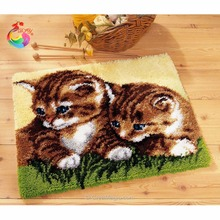 Buy Carpet embroidery Cartoon Cat sets for embroidery stitch thread Latch hook rug kits knitting needles rugs and carpets needlework